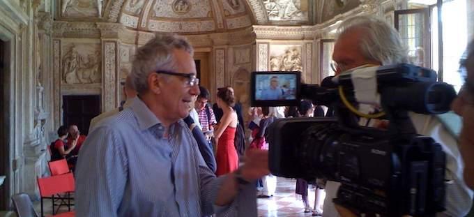 Marco Bellocchio sur le tournage de Rigoletto